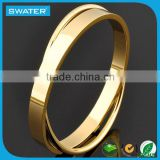 Fashion Jewelry Plain Golden Bangle Designs
