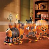 High quality best selling customized decorative pumpkin scale model train toy