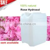 Hot Sale Organic rose still floral water hydrosol bulk wholesale