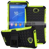2015 China wholesale! hybrid rugged hard case cover for Sony Xperia E4 case 2 in1 armor cell phone case