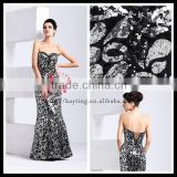 Gorgeous sequins A-line corset shoelace evening dress beautiful formal dresses for wedding