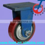 High Quality Super Heavy Duty Polyurethane Rigid Bottom center of hercules caster wheels