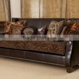 Indian Vintage Leather sofa, Royal industrial Leather Arab Sofa
