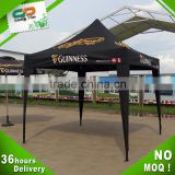 3m Customized Logo exhibition booth display black durable hot sale popup tent