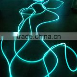 Swimming Pool using 8mm Color Changing Side Glow Fiber Optic Rope Light