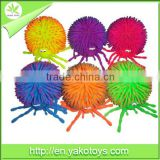 Novelty 12-PK baby spider two tone,puffer ball toy,non-phthalate material,ICTI toys,have all certificates