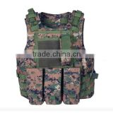 camouflage bulletproof vest police tactical vest with pouches