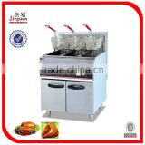 Stable quality stainless steel electric 3-tank fryer 3-basket(freestanding type)(DF-26-3)(0086-13632272289)