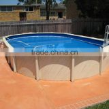 2016 HOT sale durable galvanized steel swimming pool above ground swimming pools with pvc liner