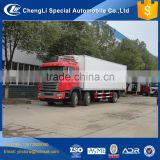 Bottom price 8 wheeler 6*2 refrigerated truck bodies, insulated truck body for sale,freezer body truck