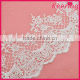 Latest design skirt 100% polyester materials swiss guipure lace fabric for dresses WTPA-022