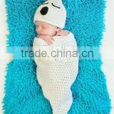 Baby Ghost Halloween Costume or photo prop hat and sleep sack cocoon