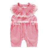 Newest design cute design baby romper baby boutique Wholesale clothes gingham kids overall