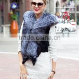 Autumn Winter Genuine Real Natural Fox Fur Vest Women's Full Pelt Waistcoat Warm Fashion Short Gilet