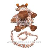 Wholesale new design plush animal shaped baby walking harness belt