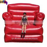 custom inflatable big red sofa chair