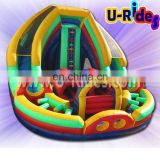 round inflatable slide
