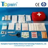 FAK61126 ISO and CE approved medical first aid kit with many wound dressing and accessories