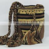 Dark Brown And Light Yellow Color Tr Small Reference Bags