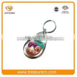 Custom Made Personalize Cheap Acrylic Blank Water Drop Plastic Photo Insert Keychain
