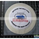 Automobile round self adhesive road tax holder, license disc holder