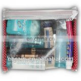 transparent PVC cosmetic bag for realistic type design,polyester materail mini cosmetic bag