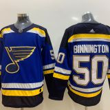 St. Louis Blues #50 Binnington Blue Jersey