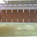 Acoustic Soundproof Office Folding Wood Doors Movable Partition Wall
