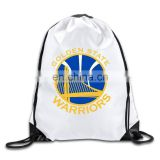 Custom durable polyester drawstring school bags for college students