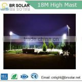 hot-dip galvanized steel high purity aluminum high mast lighting with flood led light