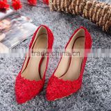 C89301A fashion lady wedding shoes bride shoes red high heel wedding shoes