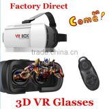 Factory Supply 3D Head Mount VR Box With Heat Dissipation 3rd Generation Virtual Reality Glasses & Bluetooth Control