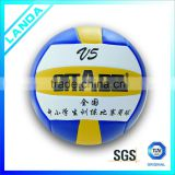 hot new products for 2015 custom printed bottom price promotional PVC leather machine sititched volleyball