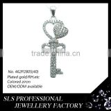 The Key of the mind with lock and key pendant ,main material of 925 silver jewelry types pendant for ladies' fashion