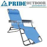 Two Use Portable Sleeping Folding Recliner Folding Footrest Beach Lounge Chair