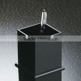 black combined square acrylic pen display stand with thicken base,pen holder/container
