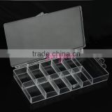 Hotselling clear ps nail storage box for tips