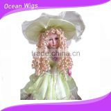 synthetic hair blond wigs heat resistant doll wig