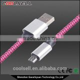 Best Selling Nylon braided reversible micro usb cable double sided Micro USB cable reversible mirco usb cable