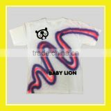 Baby Lion Spray Painting Purple Red Kids Unisex Short Sleeve White T-shirt