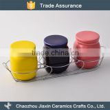 Household use cheap small colorful ceramic jar container                                                                                                         Supplier's Choice