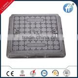 Square 600*600 SGS EN124 B125 manhole cover en124 f900 with shockproof ribber sealing SGS