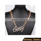 >>New SW16450 letter sexy alphabet pendant party necklace/