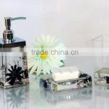 Acrylic bathroom accessories/bath accessories wholesale/Tumbler / Soap dispenser / Soap dish