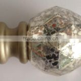 "fancy colored glass adjustable extendable curtain rod track runner ROD DIAMETER 1"" 5-8"" 6-8"" 1-2"" 1-1/2"""