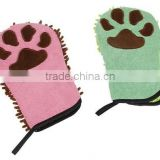 Dog bath glove comfortable material powerful water absorption 2 colors hot sale