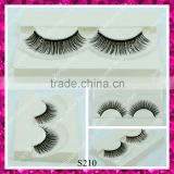 Soft cotton band synthetic eyelashes double layers luxuries looking lash wholesale
