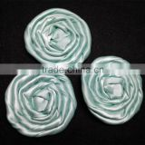 Satin Ribbon Flower,Rolled Ribbon Rose