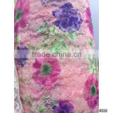 design digital print polyester austrian lace fabric