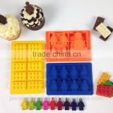 2015 BPA free Silicone Candy Molds & Ice Cube Trays - Lego Building Bricks and Figures